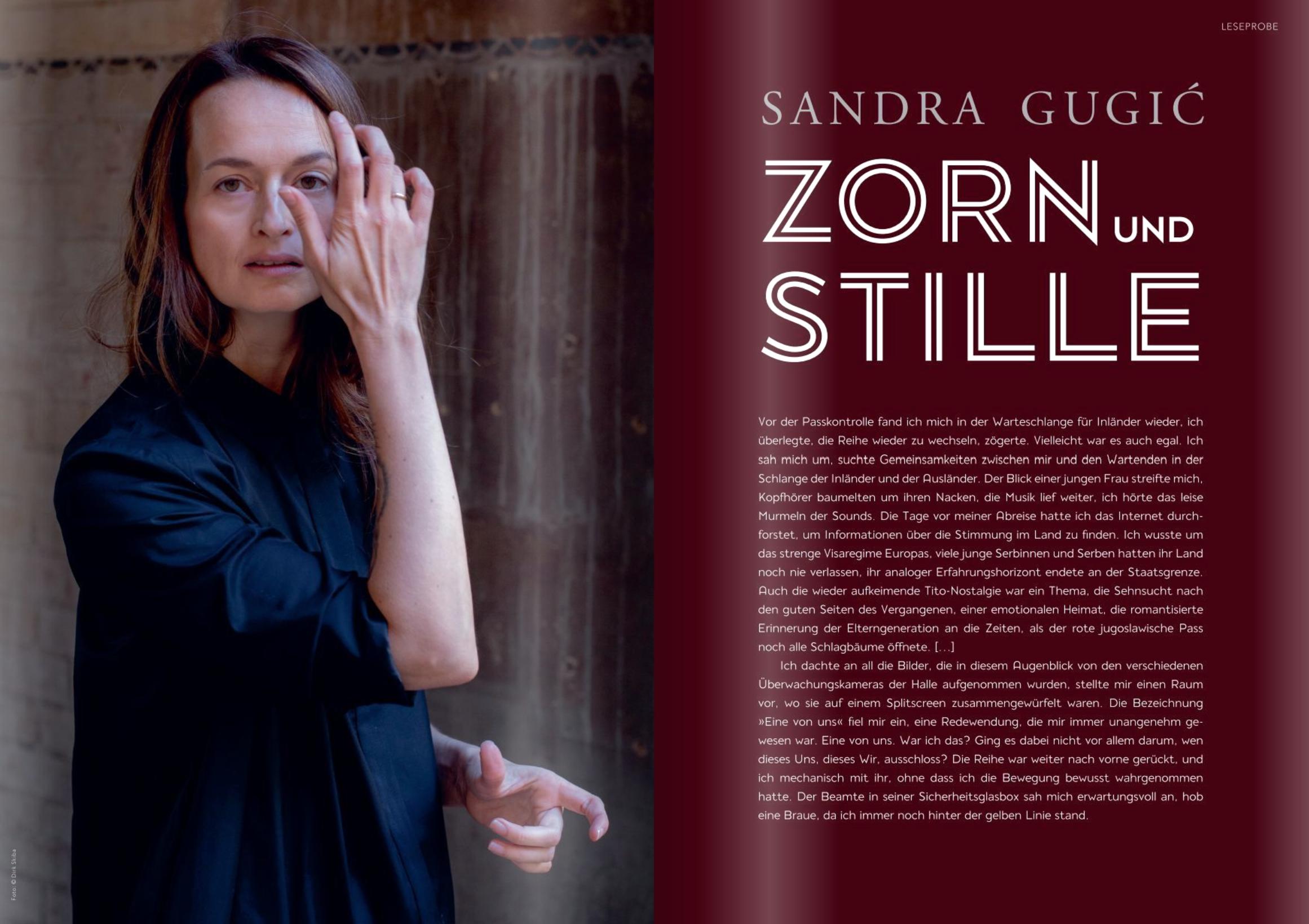 Sandra Gugić, Zorn und Stille