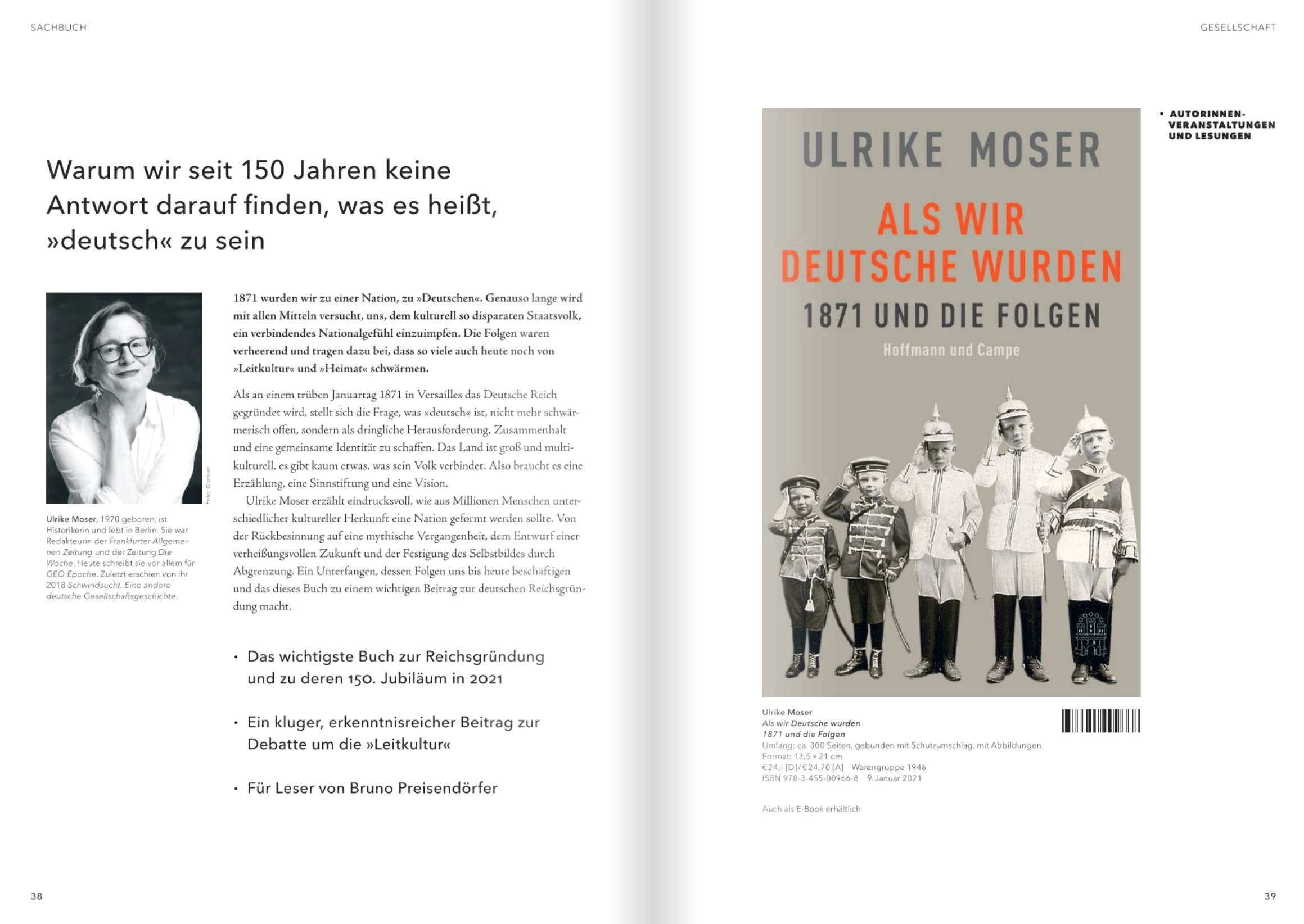 Ulrike Moser, Als wir Deutsche wurden